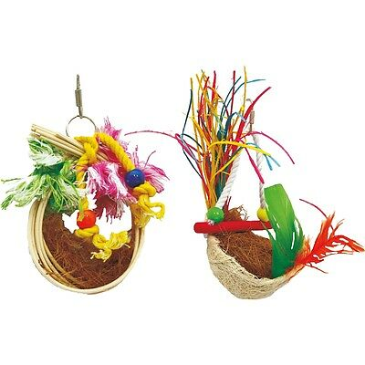 Caribbean Coco Nest Bird Toy - Beaks Toys Sleeping Cage Accessories Pet Care