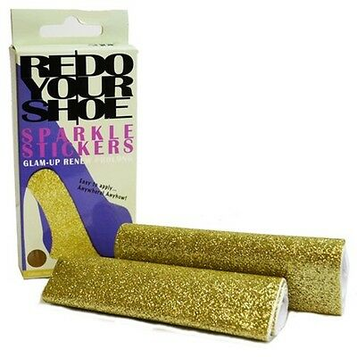 Hot Gold Redo Your Shoe Sole Sparkle Sticker - Redoyour Stickers Ladies Repair