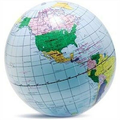 40cm Inflatable Globe Prop - Blow Up Atlas World Map Earth New