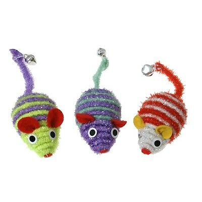 Pack Of 3 Three's A Crowd Mice Cat Toys - Threes James & Steel Kitten Toy