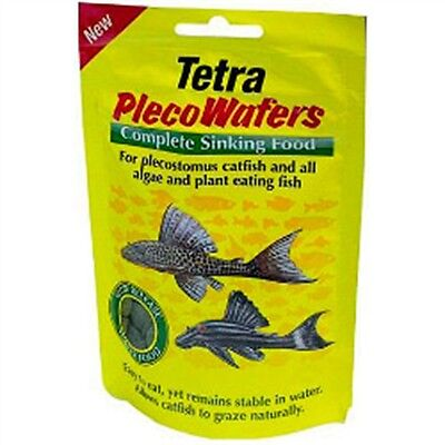 42g Tetra Plecowafers Fish Food - Cat Plant Eating Herbivorous Pet Care