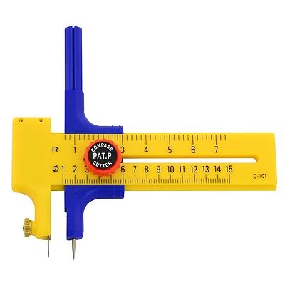 Compass Cutter With 6 Cutting Blades & 2 Pencil Leads - Rolson Plastic Leds