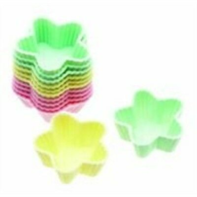 3.5cm Mini Pack Of 12 Sweetly Does It Silicone Star Shaped Cupcake Cases -
