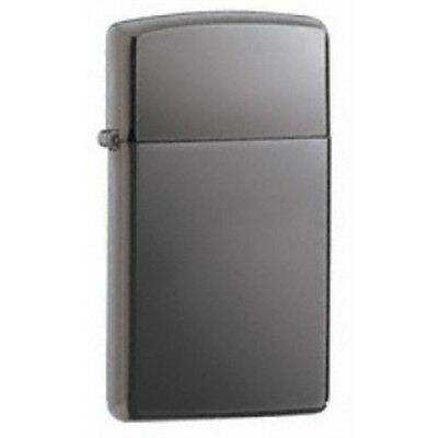 Slim Black Ice Zippo Lighter - Small Thin Pocket Gift Present Smokers Accessory