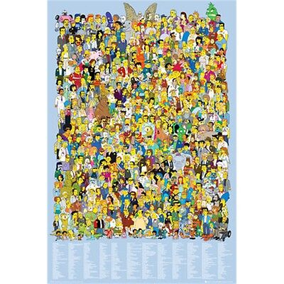 Simpsons Cast 2012 Maxi Poster - 61x 91.5cm Cartoon Tv Show Kids Funny Fan Gift