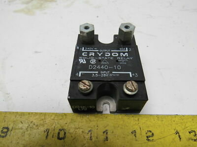 Crydom D2440-10 Solid State Relay Panel Mount 240V 40A AC/DC Control