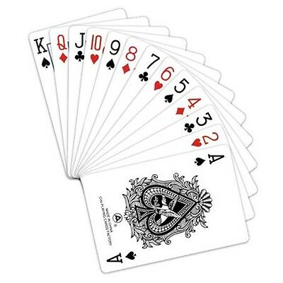 Plastic Coated Playing Cards - Pack Of 52 Deck Travel Blackjack Poker