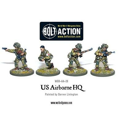 Us Airborne Hq Miniatures - Warlord Games Bolt Action World War 2 Officer Army