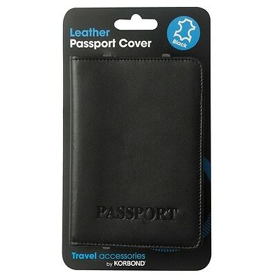 Black Leather Passport Cover - Real Travel Holiday Gift Travel Accessory