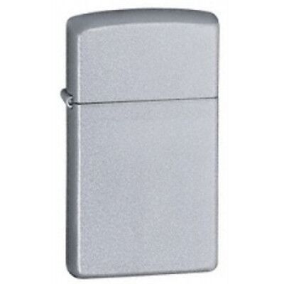 Slim Satin Chrome Zippo Lighter - Thin Gadget Gift Present Smokers Accessory
