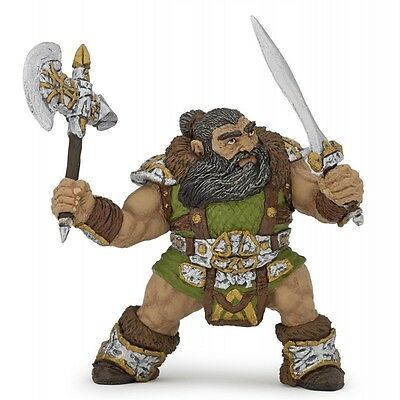 Papo Dwarf Warrior With Axe - Kids Toy Fantasy Figurines Miniatures Mythical