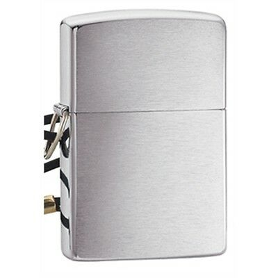 Brushed Chrome Lossproof With Loop And Lanyard Zippo Lighter - & Pocket Gift