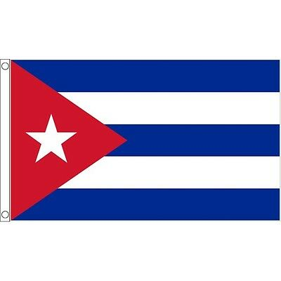 5 x 3' Cuba Flag - Cuban 5ft 3ft National Country With Metal Eyelets