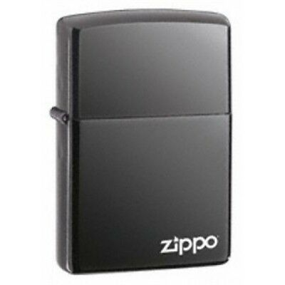 Black Ice Zippo Lighter With Logo - Pocket Gift Present Smokers Accessory