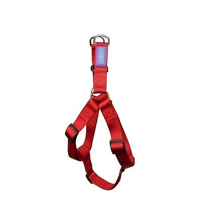 """1/2"""" x 20"""" Red Nylon Dog Harness - & Co Fully Adjustable Durable Washable"""