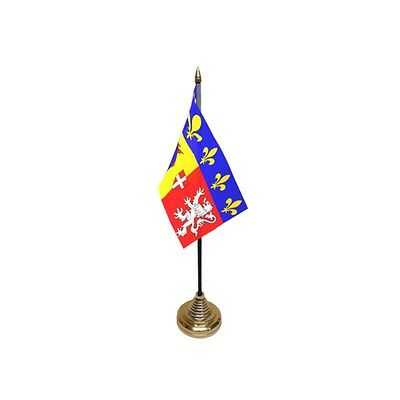 Pack Of 12 Rhone Alpes Table Flags - Flag Pck France French Region Province