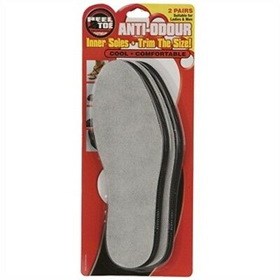 Unisex Anti Odour Insoles - 2 Pair Eater Inner Soles Cut To Size