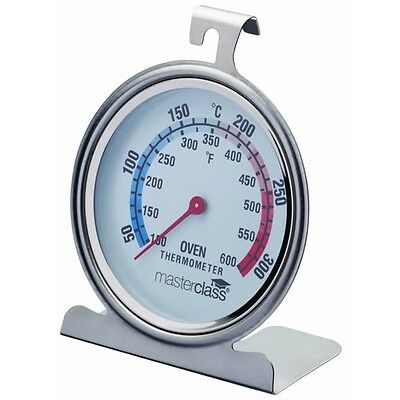 10cm Master Class Deluxe Large Stainless Steel Oven Thermometer - Baking
