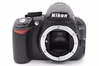 Nikon D D3100 14.2MP Digital SLR Camera - Black (Body Only) - Shutter Count: 763