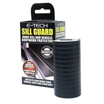 Black Stillguard Door Sill Protector - E-tech Self Adhesive Protective Boot Lip