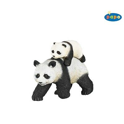 Papo Panda And Baby Panda - Animal Figure Wild Animal Fantasy Action Figure Toy