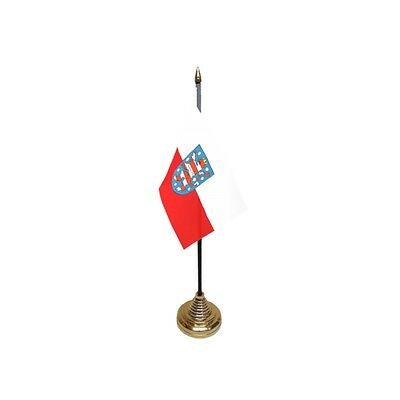Pack Of 12 Thuringen Table Flags - Flag Pk German Germany Region Province