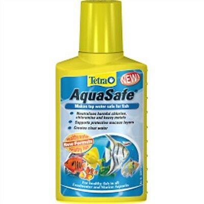 100ml Tetra Aqua Safe Water Conditioner - Aqua Pond Treatment Natural Aquarium