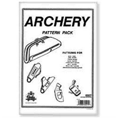 Archery Leather Pattern Pack - Designs Template Leathercraft Tandy 6027-00