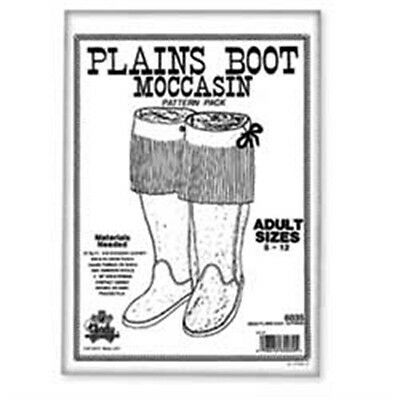 Adult Plains Boot Moccasin Pattern Pack - Leather Designs Template Tandy 6035-00