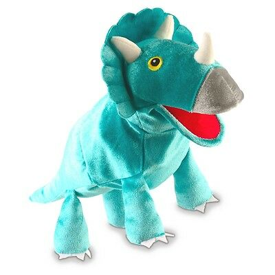 Triceratops Dinosaur Hand Puppet - Fiesta Craft Puppets Childrens Role Play Toy