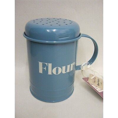 400g Home Made Vintage Style Metal Flour Shaker - Blue Tin Traditional Classic