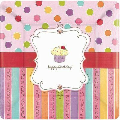 Square Party Paper Plates x 8