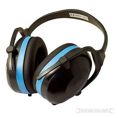 Silverline Snr 30db Folding Ear Defenders - Muffs Compact Safety Protective G