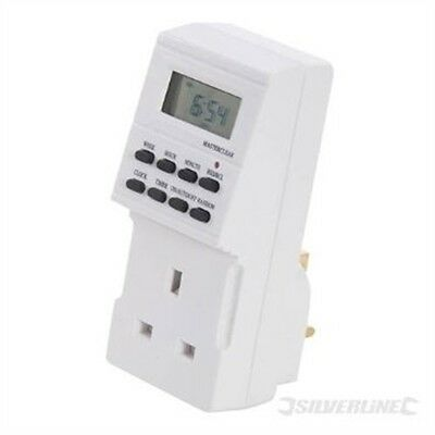 Silverline 7 Day Plug-in Digital Timer - Lcd Display - - Switch 24hrs
