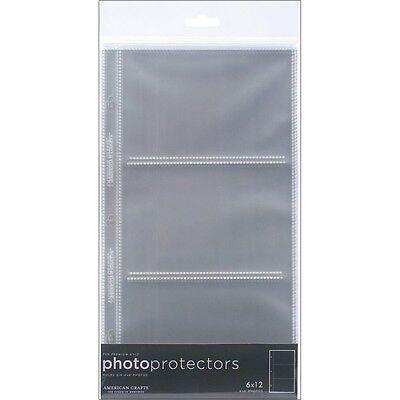 "6"" x 12"" Page Protector Pockets - American Crafts Memorology Protectors Top"