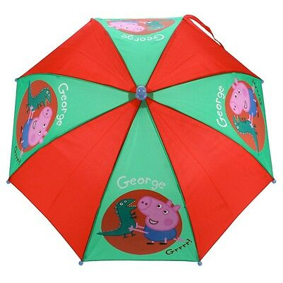 Peppa Pig George Umbrella - Official Character Kids Pinch Proof Childrens Gifts
