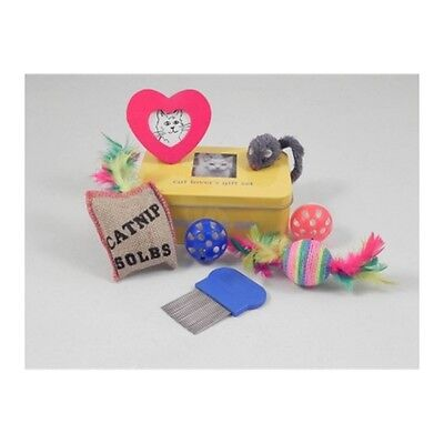 Cat Lover's Gift Set In A Tin - Apples To Pears Lovers Includes Balls Catnip