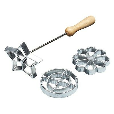 Swedish Rosette Iron Set With 3 Interchangeable Heads - Home Made Three Ironing