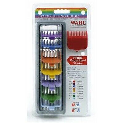 Coloured Attachment Comb Clippers - Wahl Set 1-8 Taper In Caddy Hair Cutting