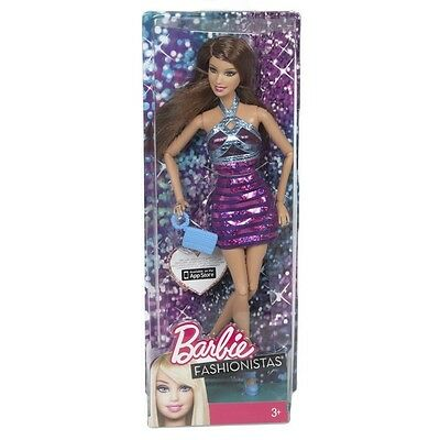 Barbie Fashionista Brunette Doll - Dolls Action Figure Kids Children Girls Girl