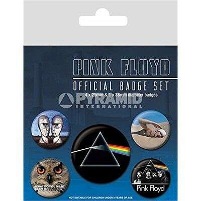 Pink Floyd Pack Of 5 Pin Badges (py)