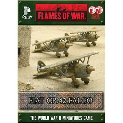 Flames Of War Italian Fiat Cr.42 Falco Squadron (3 Figures, Early/mid War)
