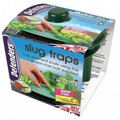 Poison Free Slug Trap Twin Pack - Defender Traps Twin Insect Control Garden