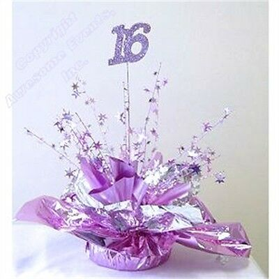 Fabulous Sweet 16 Centrepiece / Balloon Weights - Great Matching Sweet 16 Party