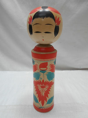 Kokeshi Japanese Doll Vintage Wooden Doll Traditional Style #393