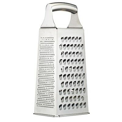 19cm Master Class Four Side Grater - Acid Etched Stainless Steel Sided Box