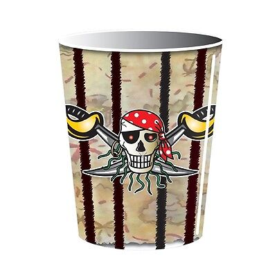 Pack Of 8 Red Pirate Paper Cups