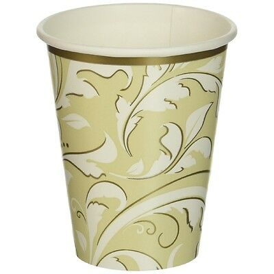 Amscan International Golden Anniversary 266ml Paper Cups, Pack Of 8