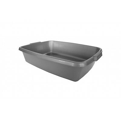 Silver Deluxe Cat Litter Tray - Cats Kittens Pets Hygiene Petcare Accessory