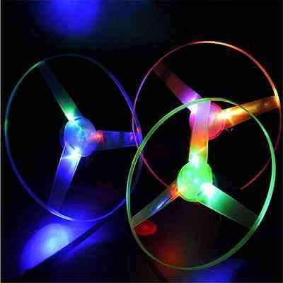 1pcs Multi Color LED Light up Flashing Flying UFO Saucer Helicopter Child Toy DT
